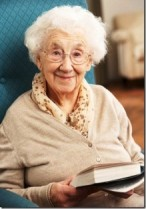 Image of a white haired old lady