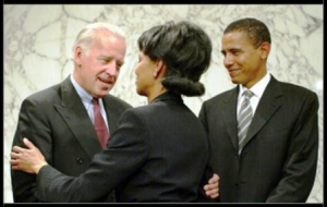 A Photo of Mr and Mrs Obama and Joe Biden