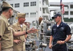 3 men in navy