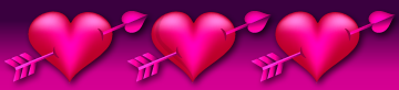 pink hearts with arroes boarder clip art
