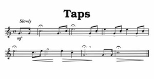music sheet for Taps