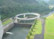 highway with large loop over waterway