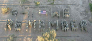 soldiers spell out 911 we remember