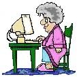 Grandma at computer