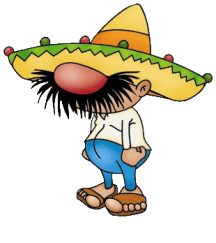 cartoon of mexican in large hat