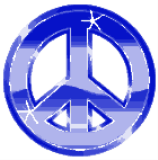 Peace Sign Blue