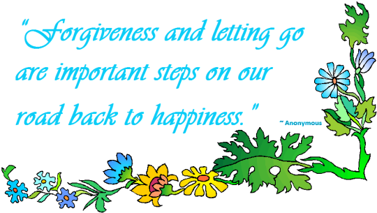Forgive is the road to happiness