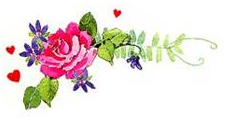 Rose with flowers clip art